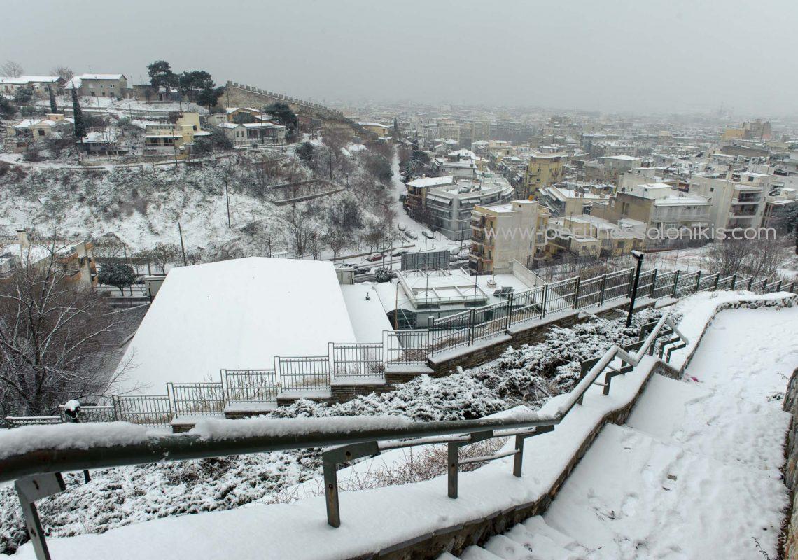 Endlich hat es auch in Thessaloniki geschneit!