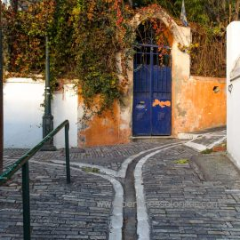 Ascending to the Ano Poli (Upper town)