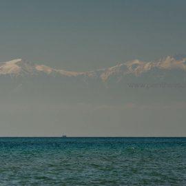 Den schneebedeckte Berg Olypm