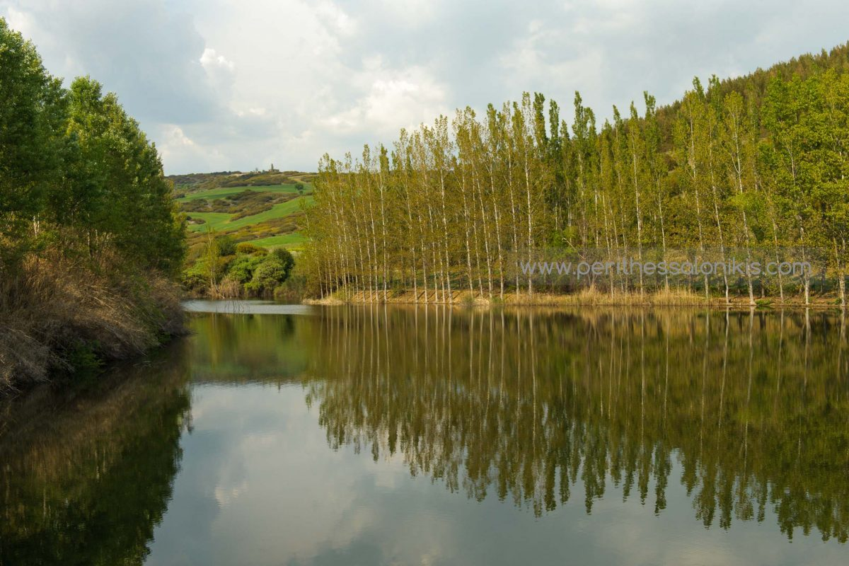 The artificial lake of Oreokastro