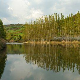 The artificial lake of Oreokastro