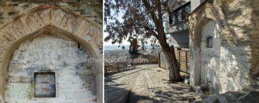 Στο δρομάκι επάνω από τον Όσιο Δαυίδ - ο οποίος κάποτε ήταν το καθολικό της Μονής Λατόμου και από το 1988 είναι Μνημείο Παγκόσμιας Κληρονομιάς της UNESCO (Παλαιοχριστιανικά και Βυζαντινά μνημεία της Θεσσαλονίκης) – ανακαλύπτουμε στην οδό Λυσίας ακόμα μία κρήνη. Από αυτό το σημείο μπορούμε να απολαύσουμε την υπέροχη θέα προς την πόλη, τον Θερμαϊκό κόλπο κι αν το επιτρέψει και ο καιρός και προς τον Όλυμπο. © Aris Papadopoulos